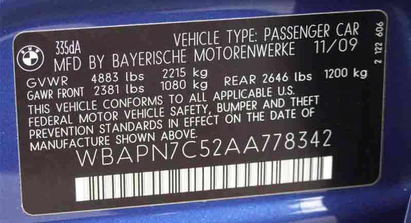شماره شاسی بدنه خودرو
